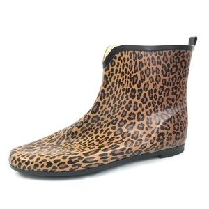 Cheetah Print Ankle Rainboots